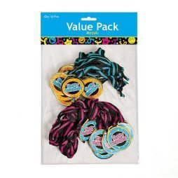 Pack of 12 Plastic Happy Birthday Medals