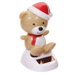 Christmas Teddy Bear Solar Powered Flip Flap