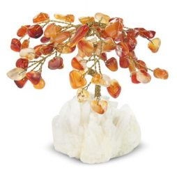 Carnelian Gem Tree in Gift Box