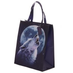 Mystical Wolf Design Durable Reusable Shopping Bag