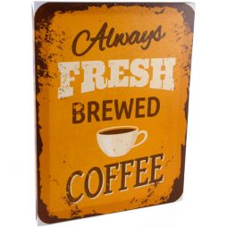 Coffee Canvas Plaque
