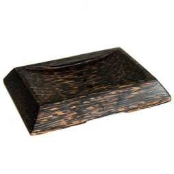 Coco Wood Soap Dish – Simple Square With Drain