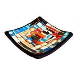 Mosaic Soap Dish – Blue and Red